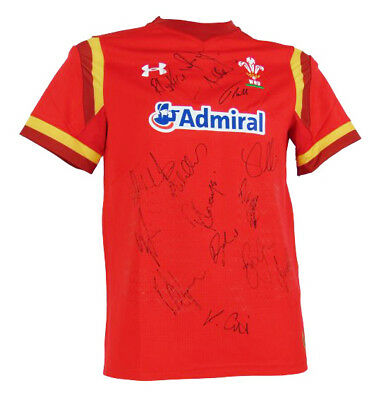 Wales Rugby Autographed Shirt - Fully Signed + *certificate Of Authenticity*