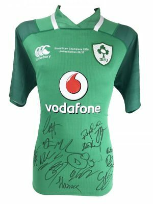 Ireland Rugby Signed Shirt - Grand Slam Champions 2018 + *certificate*