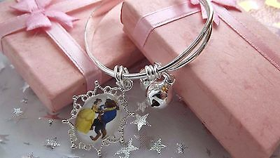 BEAUTY AND THE BEAST PRINCESS BELLE CHARM  BANGLE age 2 TO 4 YEARS GIFT BOX