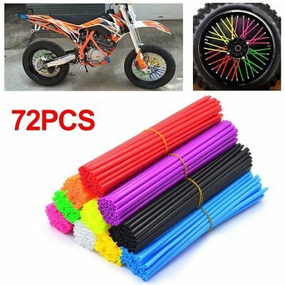 72x Spoke Skin Cover Dirt Bike 24cm Wheel Rim Protector Wraps Flexible Xmas Gift