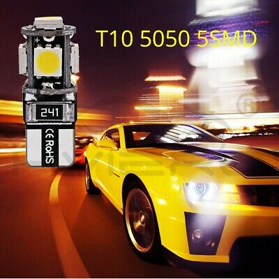 10X T10 W5W Canbus White 5smd 5050 Led Car Light 194 168 Error Bulbs DC 12V Led