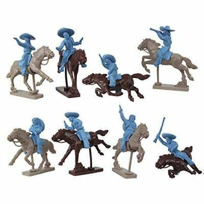 Weston Toy Co Mounted Mexican Bandits, 8 figures (horse option available)