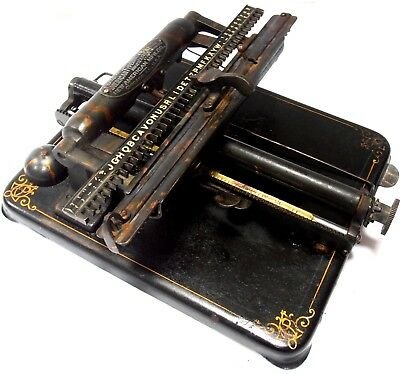 ►Antigua maquina de escribir NEW AMERICAN 5 rare circa 1909 index TYPEWRITER►