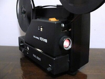 Bell&Howell 10MS Super 8 & Standard 8mm Variabl Speed Movie Projector ~SERVICED~