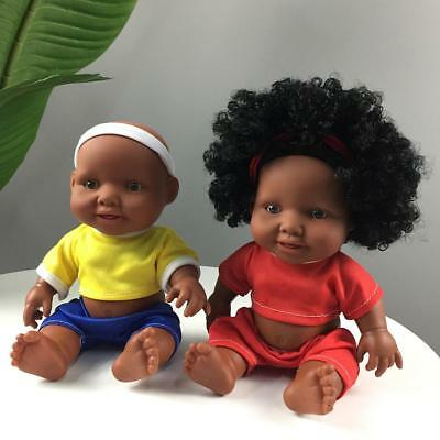 Baby Movable Joint African Doll Toy Black Doll Best Gift Toy Christmas Gift AU