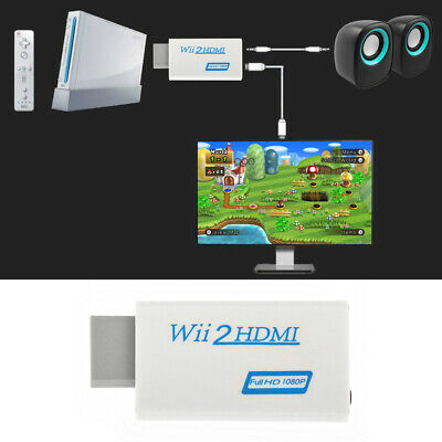 Wii auf HDMI Adapter Konverter Stick Upskaler 720p 1080p 60HZ Full HD TV Audio