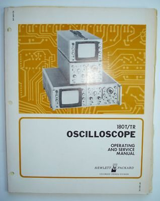 HP Oscilloscope 180T/TR Operation and Service Manual