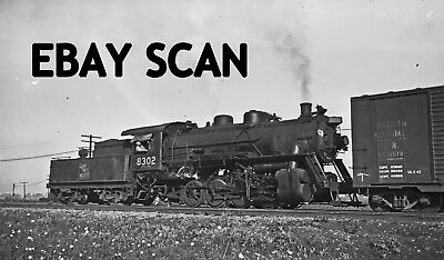 ORIG NEG Grand Trunk Western 0-8-0 8302 action in Buffalo Original 2 ½ X 4 ¼