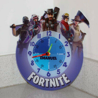 Personalised Gaming Clock, Learn to tell the time Boys Wall Clock, Battle Royale