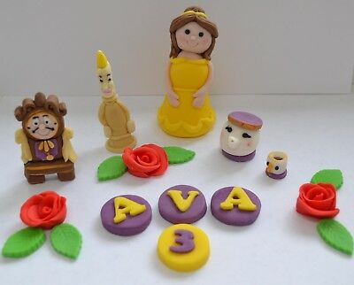 Edible Disney Princess Beauty and The Beast Belle Cake topper decoration