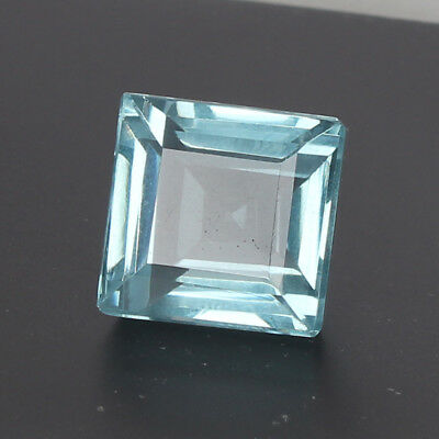 26.10 Ct Natural Aquamarine Greenish Blue Color Square Cut Loose Certified Gem