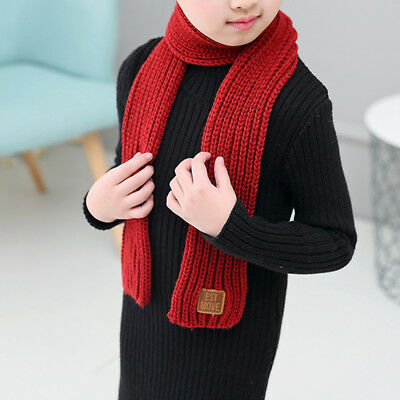 Winter Scarf Kids Child Knitted Scarves Winter Warm Scarf for Boys Girls