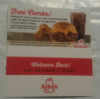 12 Arby's Combo Meal Cards