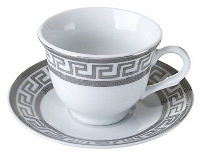 Imperial Gift D1347A-12 12 Piece Greek Key Espresso Cup & Saucer Set Boxed
