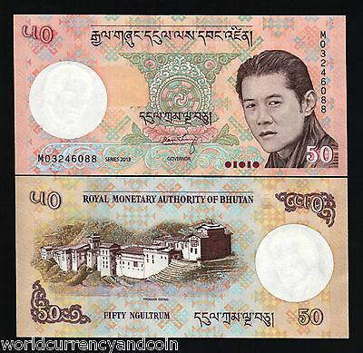 Bhutan 50 Ngultrum P31 2013 X 100 Pcs Lot Full Bundle King Palace Unc Money Note