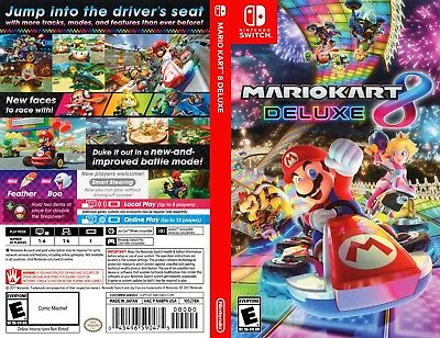 Mario Kart 8 Deluxe (Nintendo Switch) Replacement Case, No Game