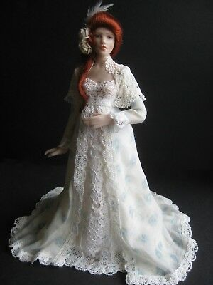 Exquisite dolls house 1/12th doll by Celia Mayfield~Victorian mother-to-be