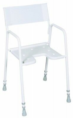 Shower Chair - Height Adjustable - Nylon Back - Mobility Aid