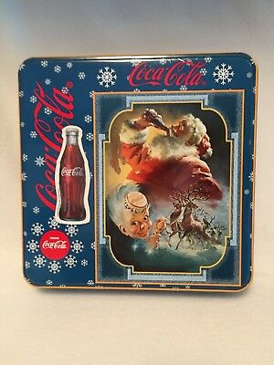 Coca Cola Santa Christmas Jigsaw Puzzle In Tin