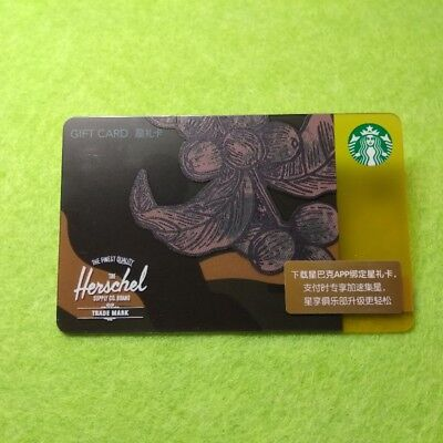 2018 Starbucks China Cross Over With Herschel Gift Card  Pin Intact
