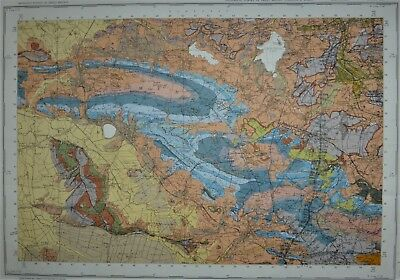 Large Geological map of Wells