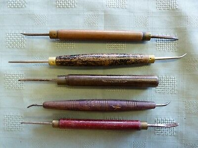 Vintage leather craft AWL cobblers saddle makers weaving