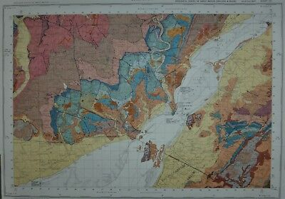 Large Geological map of Chepstow
