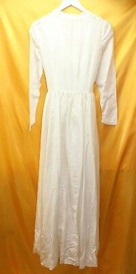 VINTAGE 1920's PARACHUTE WEDDING DRESS LONG SLEEVE  ## HIN C1 LC