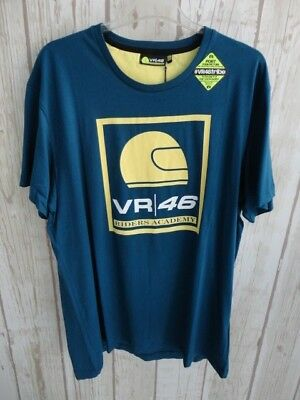 Vr46 Valentino Rossi Riders Academy Tshirt Color Petrol Size 2Xlarge