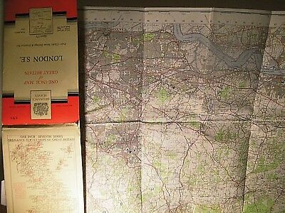 South East London & Peripheral Kent 1954-62:series 7 Ordnance Map: 1St Post War