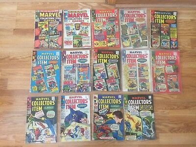 MARVEL COLLECTOR'ITEM CLASSICS group lot 1,2,3,4,5,6,7,8,9,10,14,15,16,17
