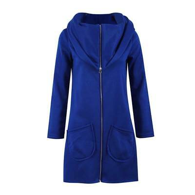 Solid Color Hooded Zipper Sweater Women's Personality Hoodie Long-sleeved Jacket