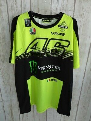 Vr46 Valentino Rossi Monza Tshirt Color Yellow Size 2Xlarge