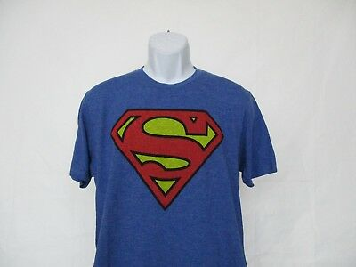 Superman Shield Comic Superhero T-Shirt Royal Blue Adult Sizes Small - 2XL NEW