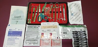 32-Pcs Student Suture Surgical/Minor Surgery Kit, Military Style,First Aid kit