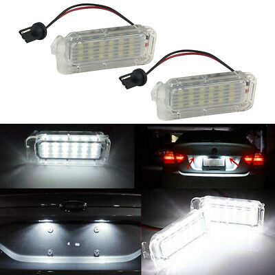 2 LED License Number Plate Light For Ford Focus Fiesta Mondeo MK4 Kuga Galaxy