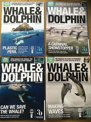 4 Issues Whale & Dolphin WDC Magazines  2017/ 2018