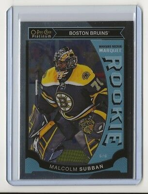 15-16 2015-16 O-Pee-Chee Platinum Marquee Rookies #M5 Malcolm Subban Boston