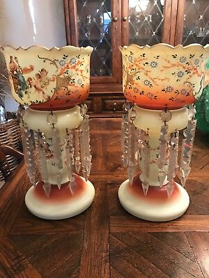 Pair of antique Victorian Table Lustres