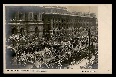 Dr Who Gb Their Majesties King And Queen Parade Vintage Postcard C63821