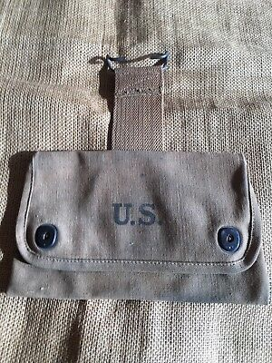 WWI U.S. Medical Wound Tag Pouch Dated 1918