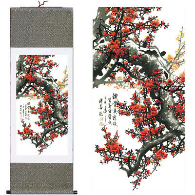 "37"" Chinese SuZhou Silk Art Decoration Scroll Painting Drawing Wall Hanging S007"