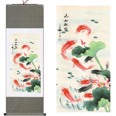 "37"" Chinese SuZhou Silk Art Decoration Scroll Painting Drawing Wall Hanging S006"