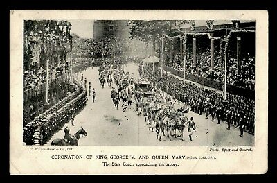 Dr Who 1911 Gb Coronation King George V And Queen Mary Postcard C64230