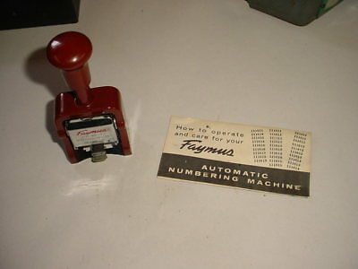 Vintage Faymus Quality Automatic Numbering Machine Model A                    18