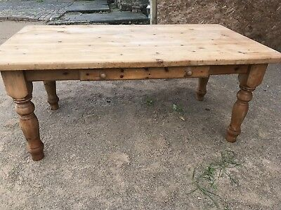 Solid Pine Wooden Farmhouse / Dining Table