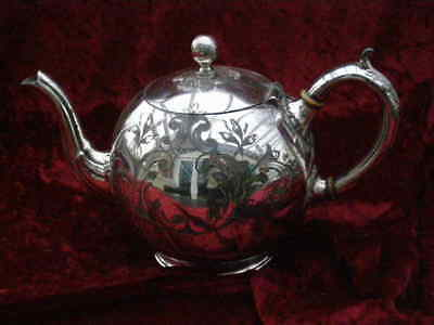 Antique Victorian English Silver Plate Tea Pot Teapot  Afternoon Tea Tableware