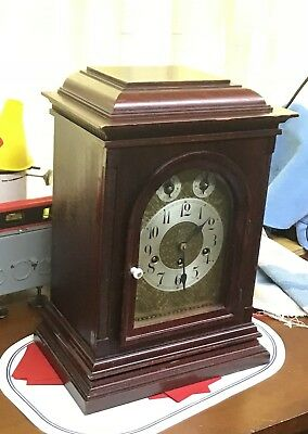 Junghans, German bracket clock with Westminster chimes, circa 1910-20 • 8 Day
