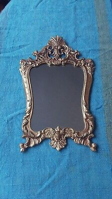 Vintage French Decorative Gilt Frame Mirror  35 cm x 22 cm