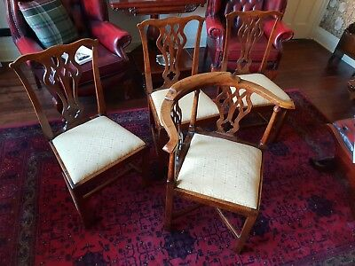 4 Fine Quality Antique Chippendale Period/Style Chairs